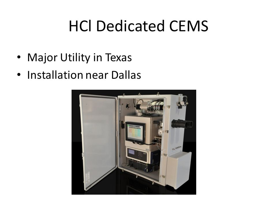 HCl Dedicated CEMS Major Utility in Texas Installation near Dallas