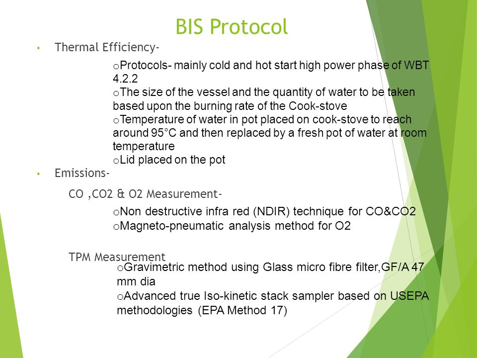 BIS Protocol Thermal Efficiency- Emissions- CO ,CO2 & O2 Measurement-