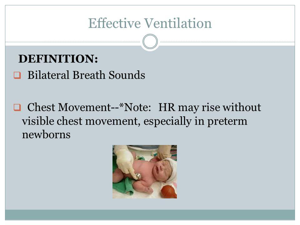 Effective Ventilation