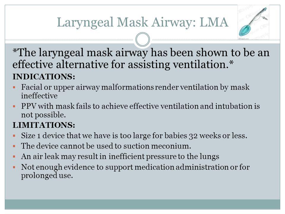Laryngeal Mask Airway: LMA