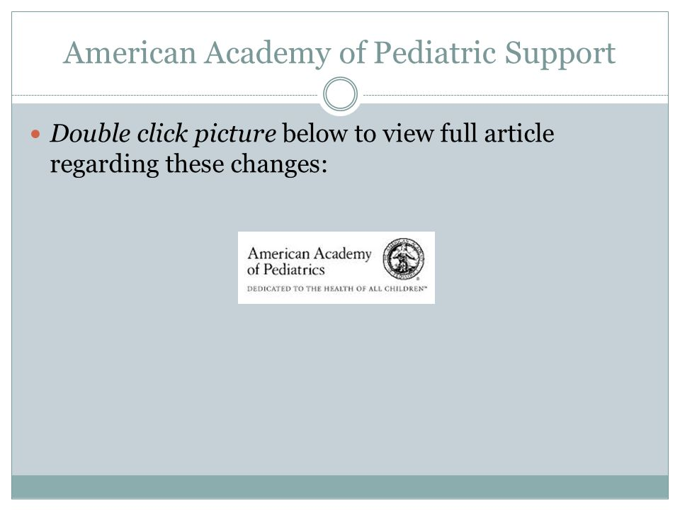 American Academy of Pediatric Support