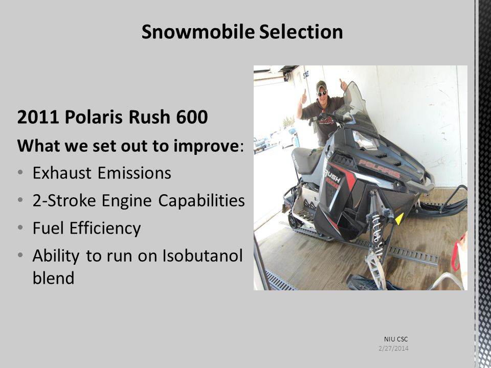 Snowmobile Selection 2011 Polaris Rush 600 What we set out to improve: