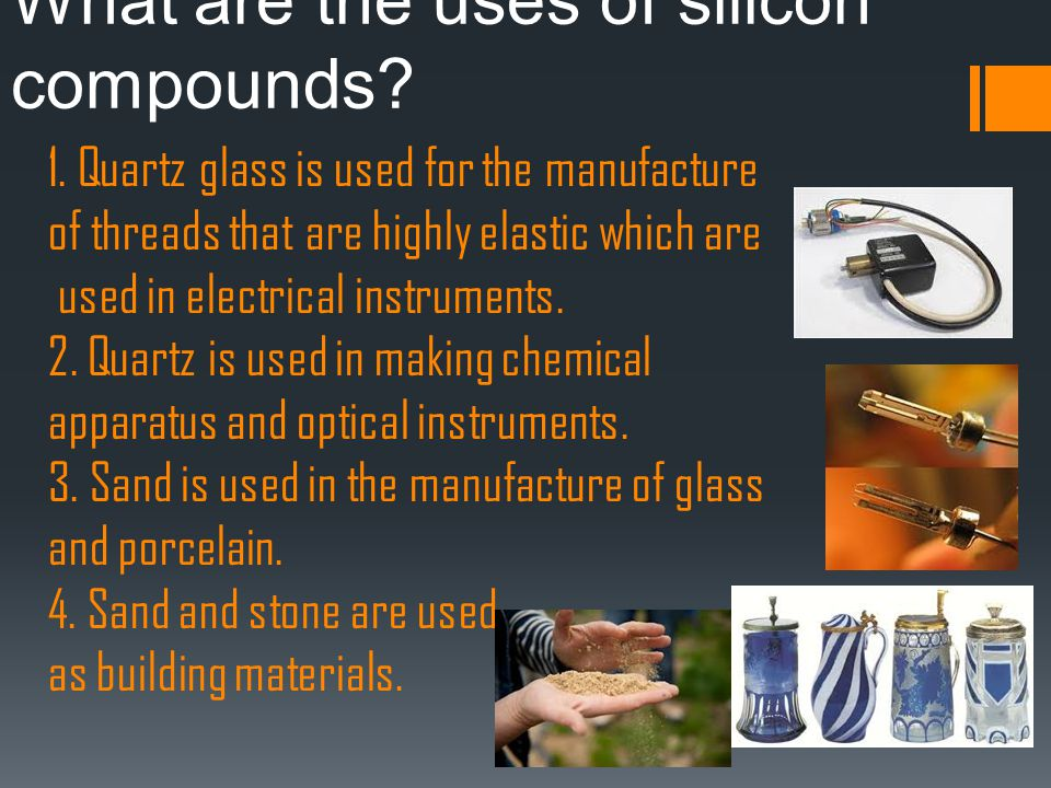 What are the uses of silicon compounds