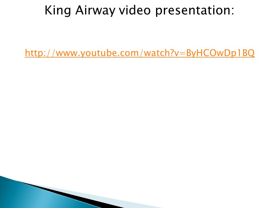 King Airway video presentation: