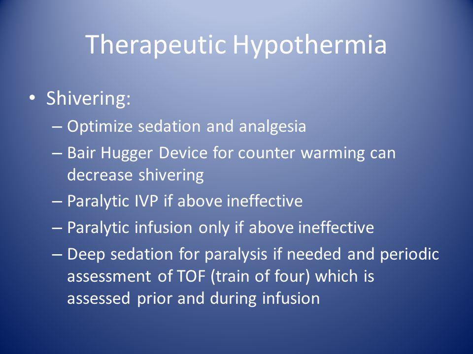 Therapeutic Hypothermia
