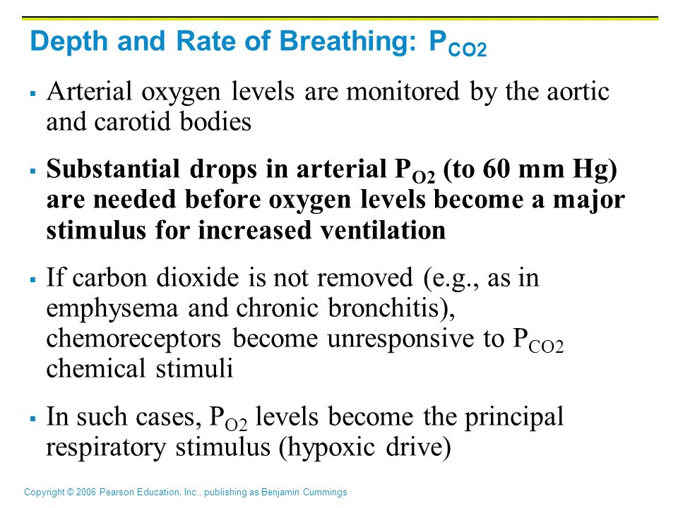 Depth and Rate of Breathing: PCO2
