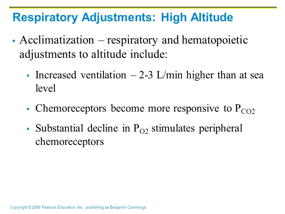 Respiratory Adjustments: High Altitude