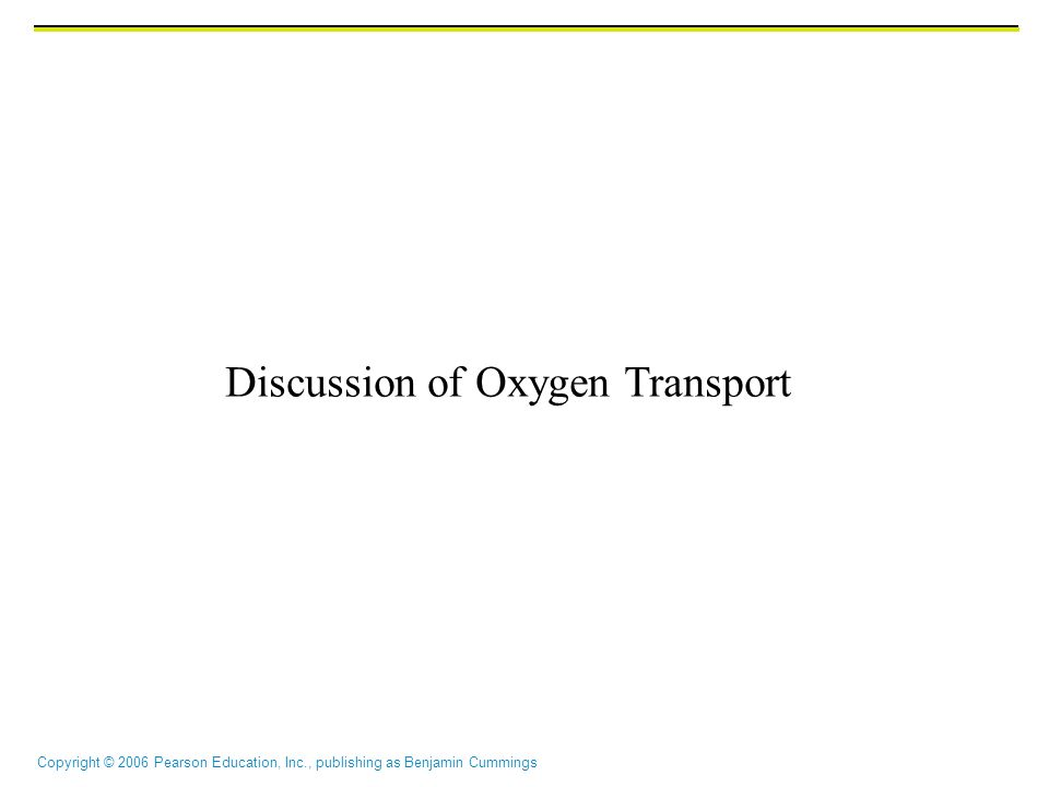 Discussion of Oxygen Transport