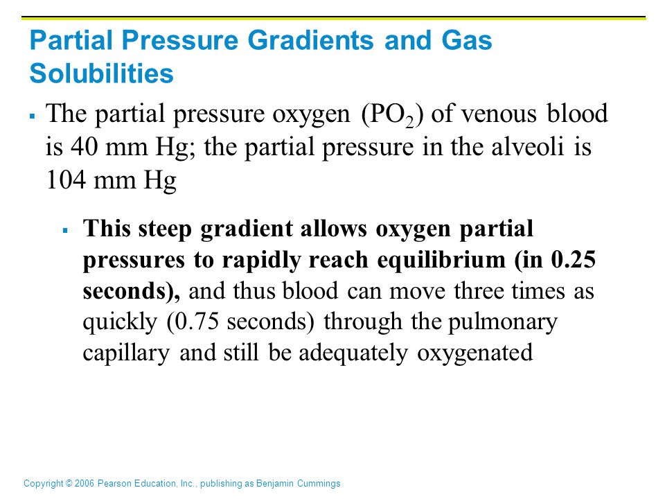 Partial Pressure Gradients and Gas Solubilities