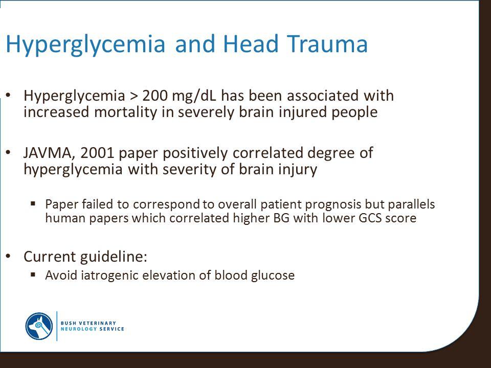 Hyperglycemia and Head Trauma