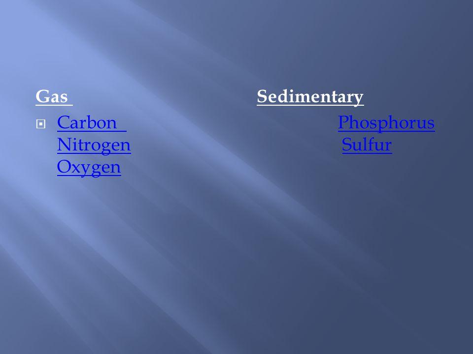 Gas Sedimentary