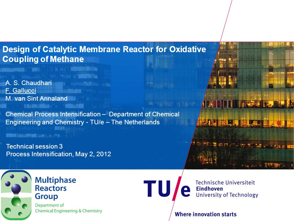Outline Introduction Design of catalytic membrane reactor Results