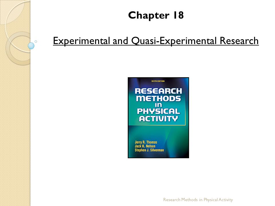 Experimental and Quasi-Experimental Research