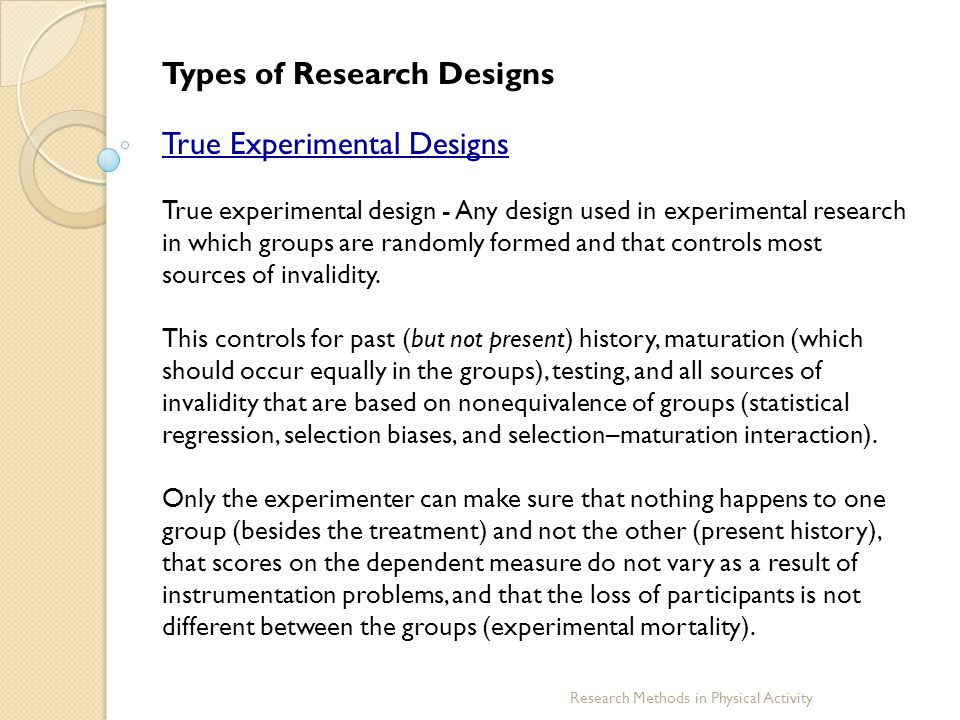 experimental design and the importance of controls A quasi-experimental design by definition lacks random assignment quasi-experimental designs identify a comparison group that is as similar as possible to the treatment group in terms of baseline (pre-intervention) characteristics.