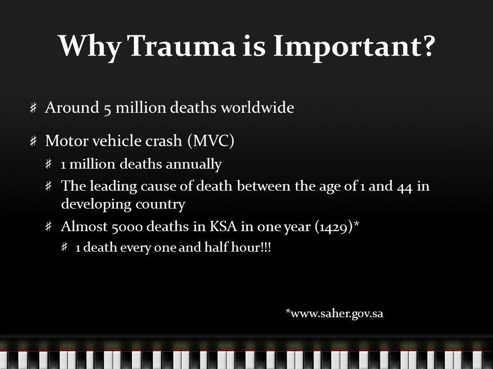 Why Trauma is Important