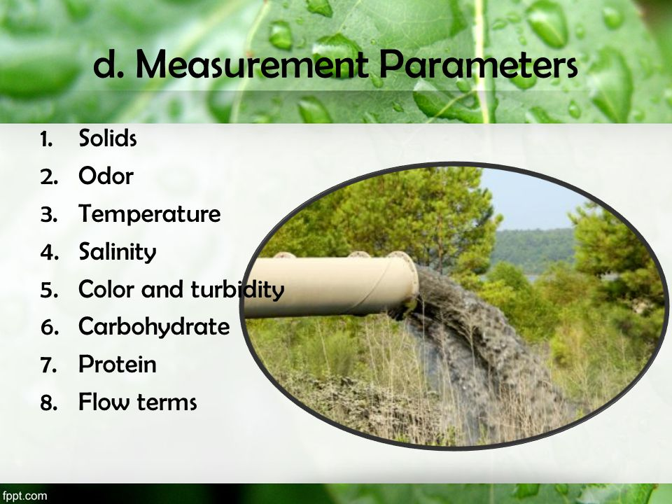 d. Measurement Parameters