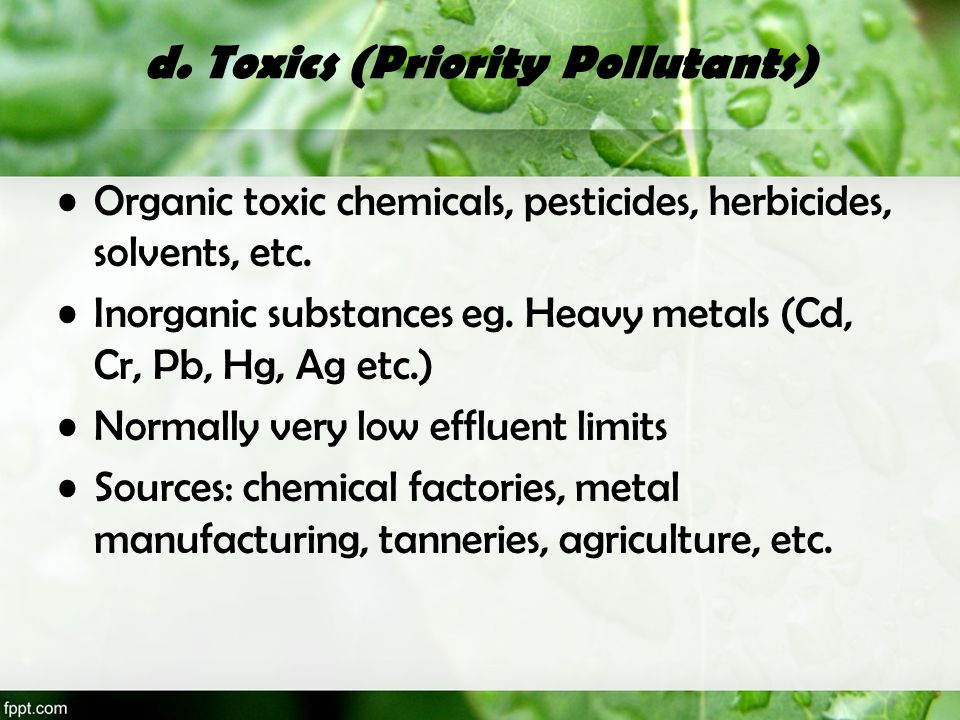 d. Toxics (Priority Pollutants)