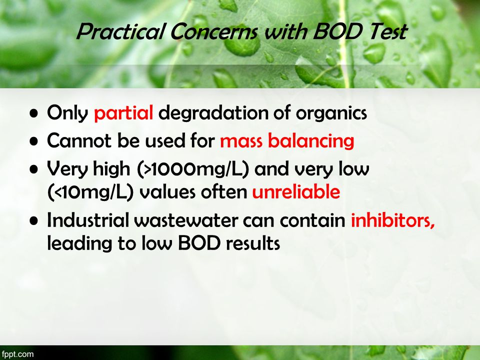 Practical Concerns with BOD Test