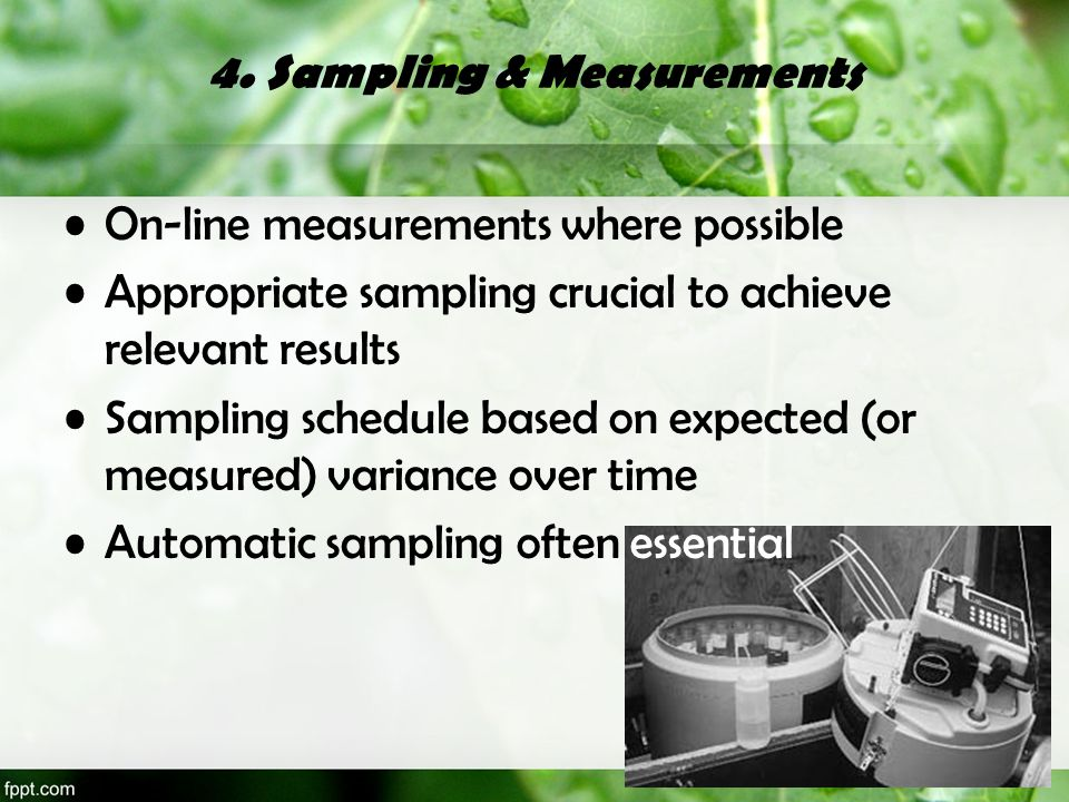 4. Sampling & Measurements