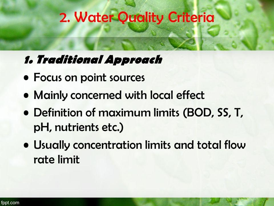 2. Water Quality Criteria
