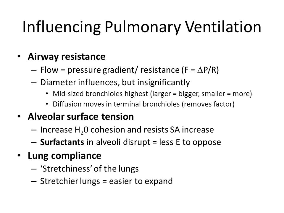 Influencing Pulmonary Ventilation