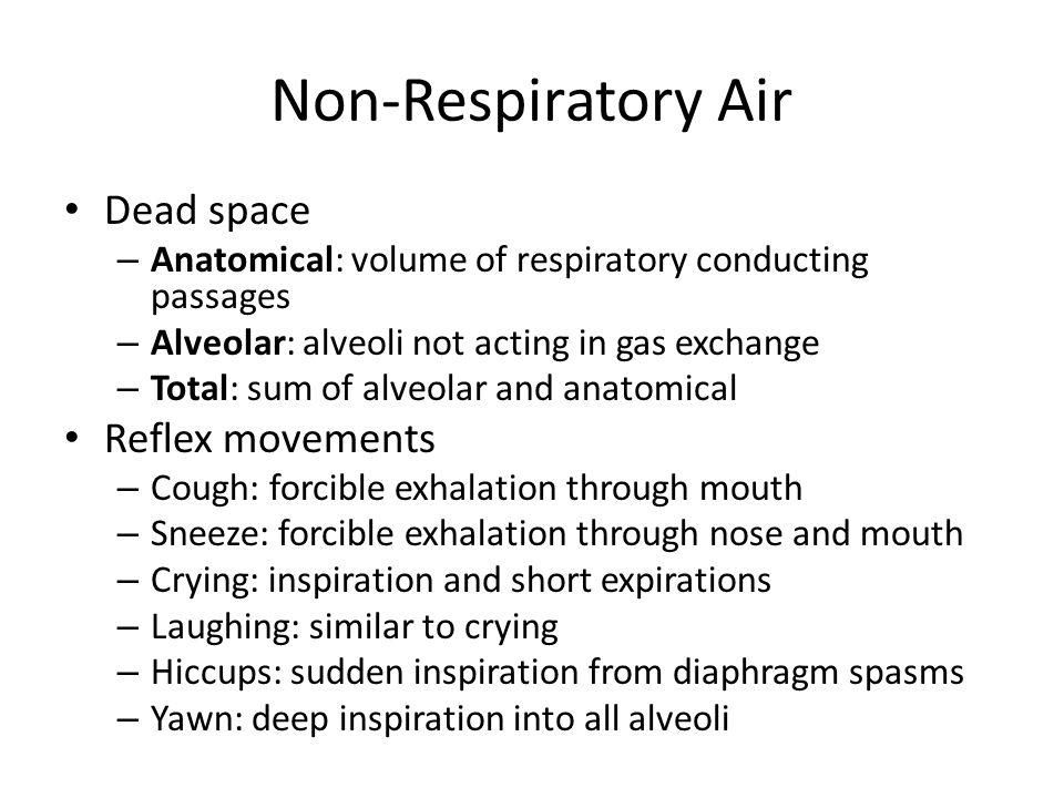 Non-Respiratory Air Dead space Reflex movements
