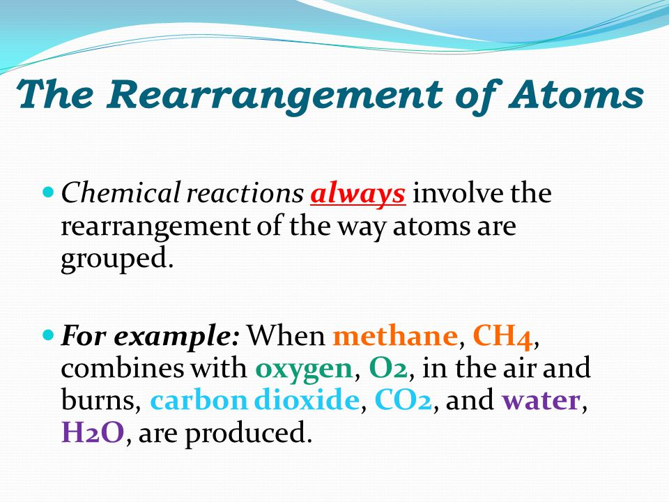 The Rearrangement of Atoms