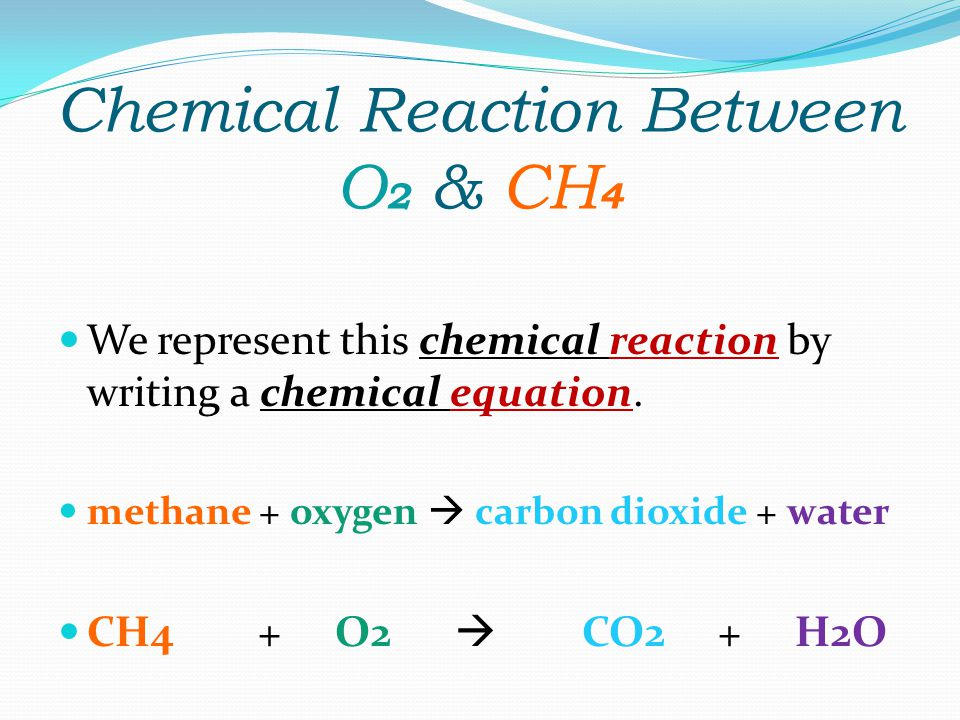 Chemical Reaction Between O2 & CH4