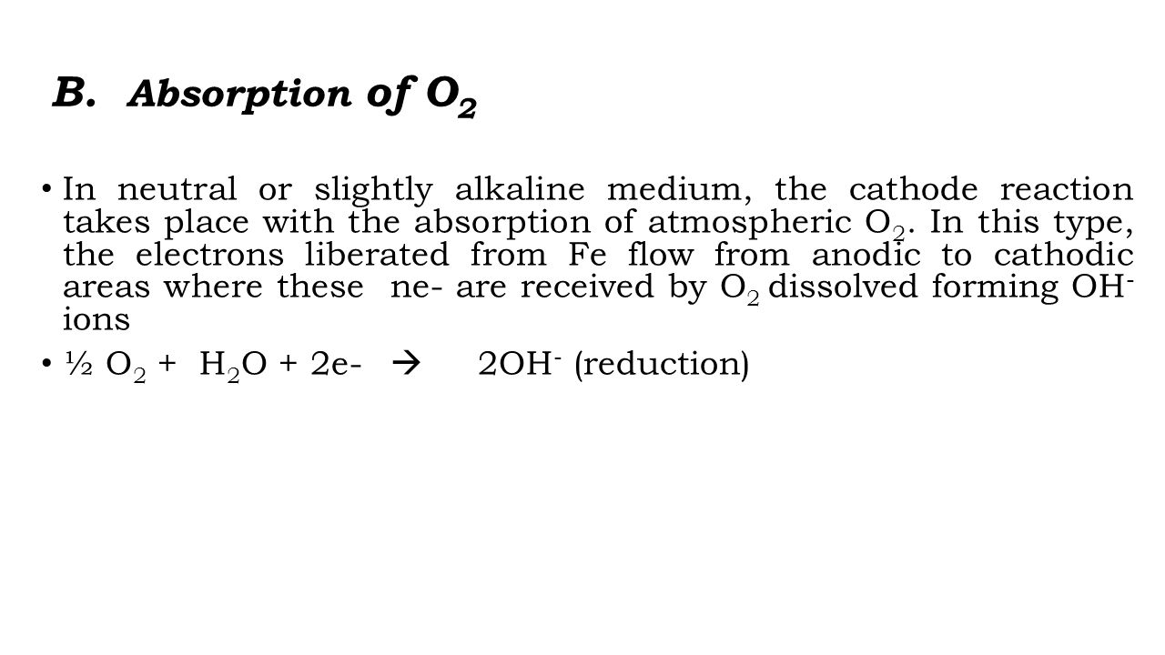 B. Absorption of O2