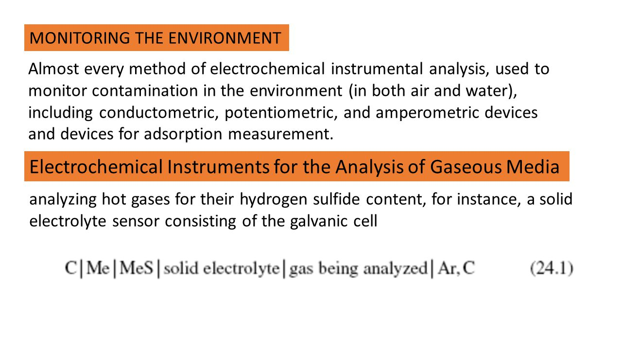 Electrochemical Instruments for the Analysis of Gaseous Media