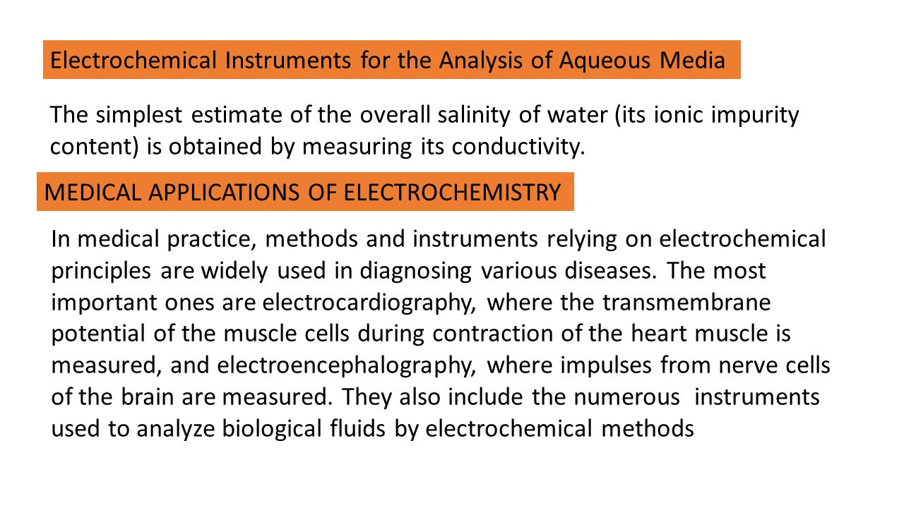 Electrochemical Instruments for the Analysis of Aqueous Media