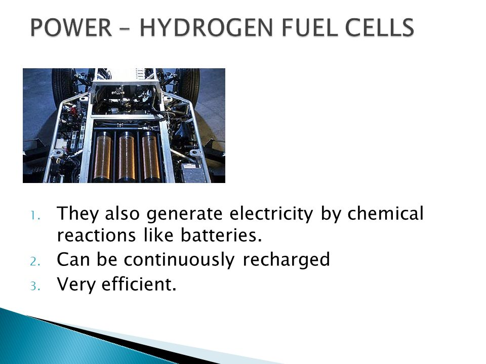 POWER – HYDROGEN FUEL CELLS