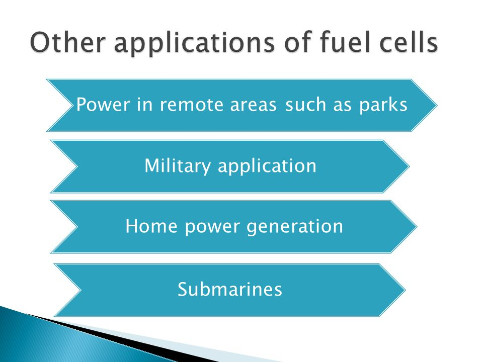 Other applications of fuel cells