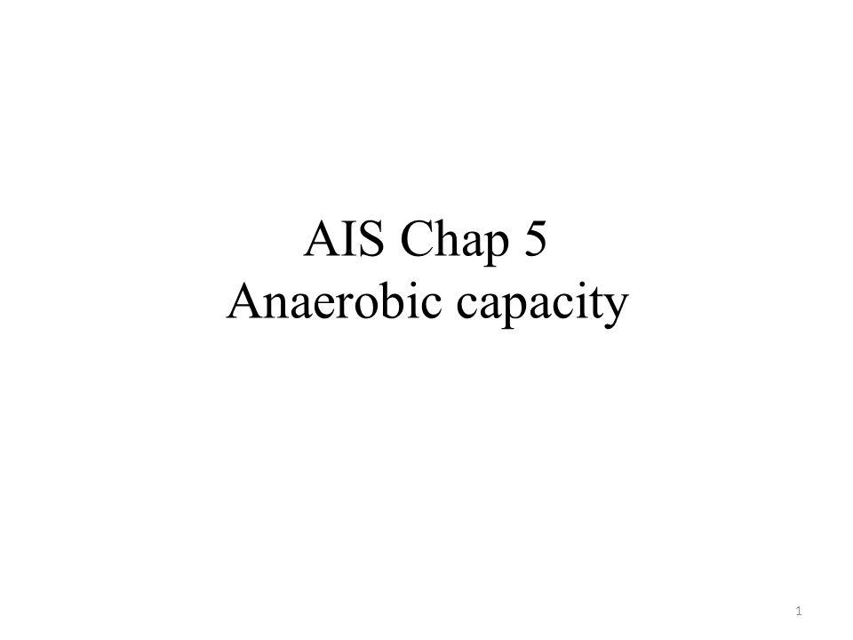 AIS Chap 5 Anaerobic capacity