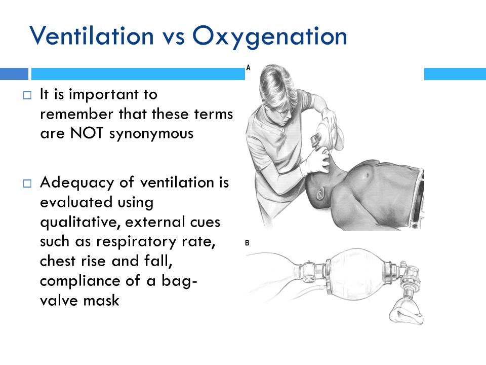 Ventilation vs Oxygenation
