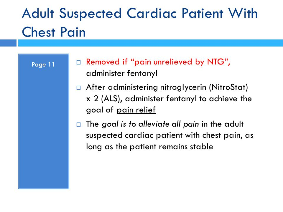 Adult Suspected Cardiac Patient With Chest Pain