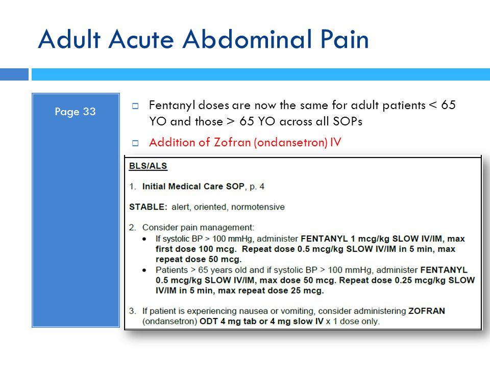 Adult Acute Abdominal Pain