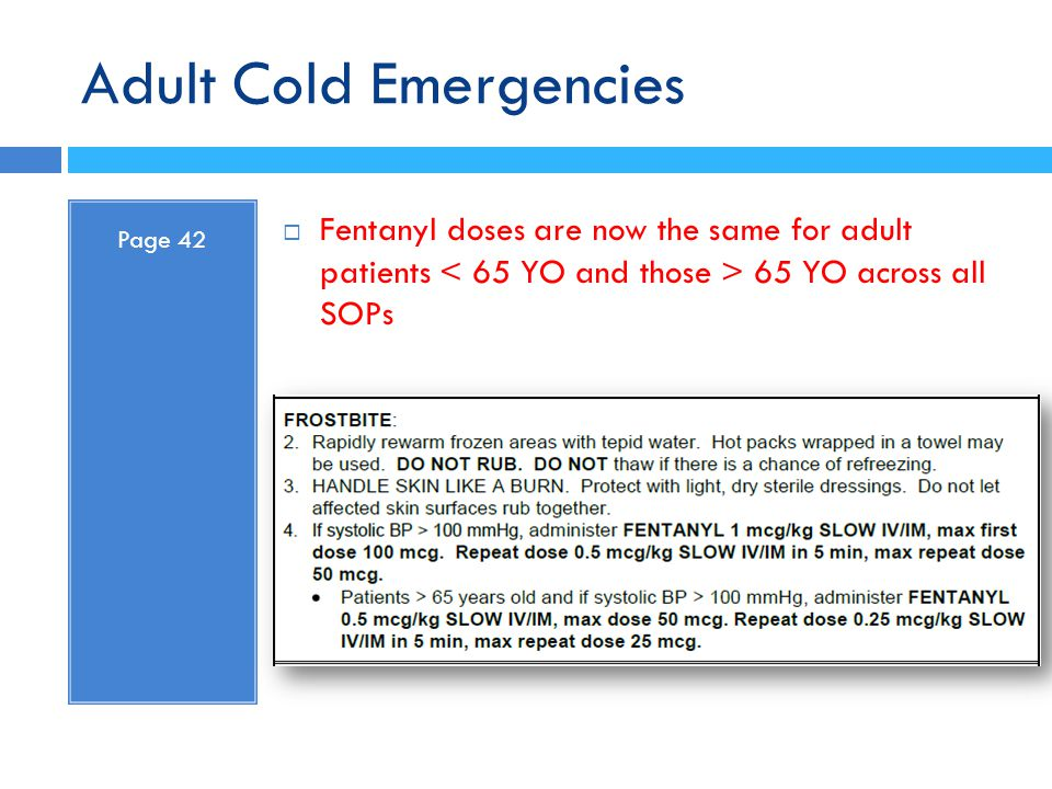 Adult Cold Emergencies