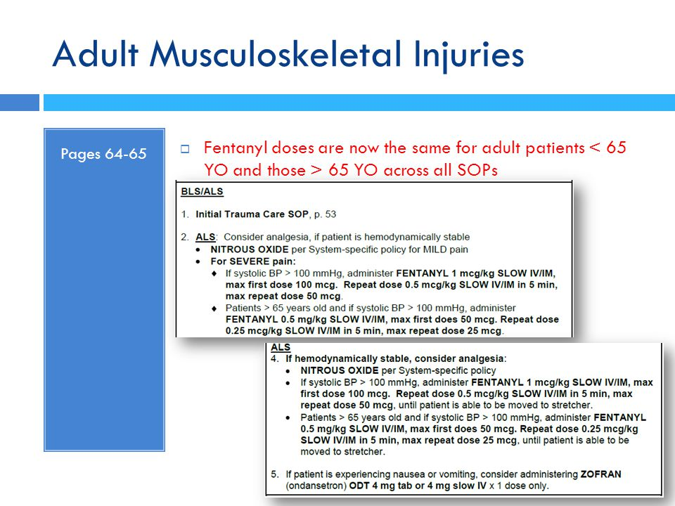 Adult Musculoskeletal Injuries