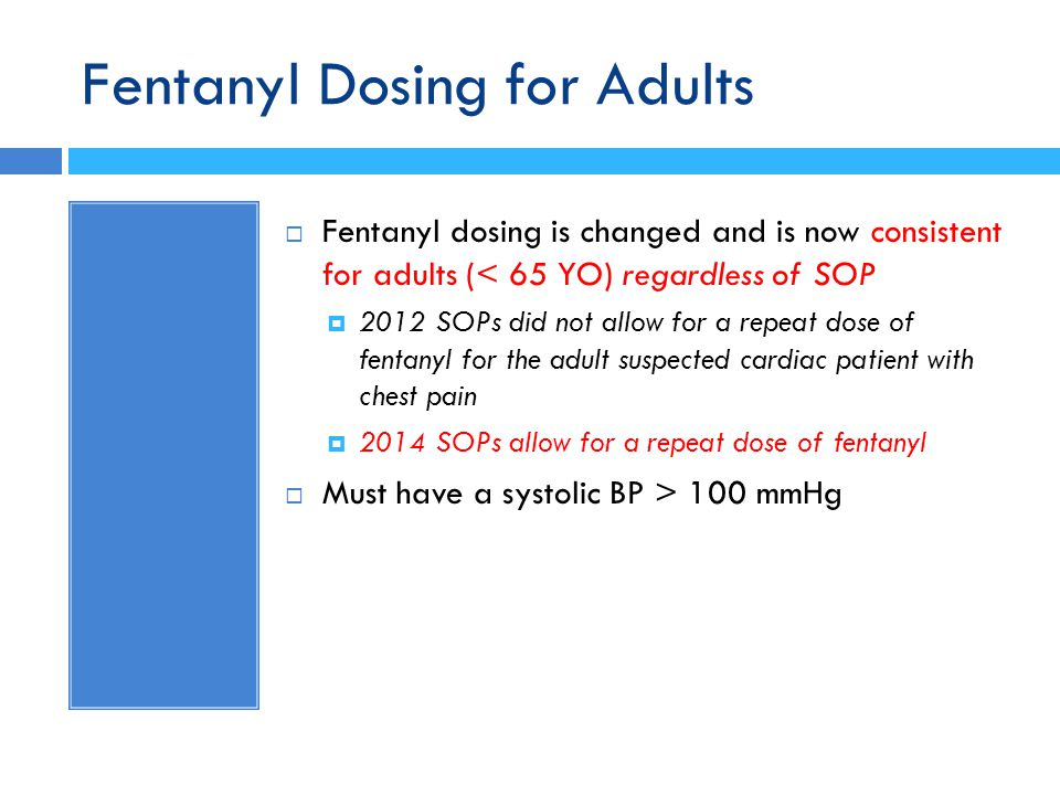 Fentanyl Dosing for Adults