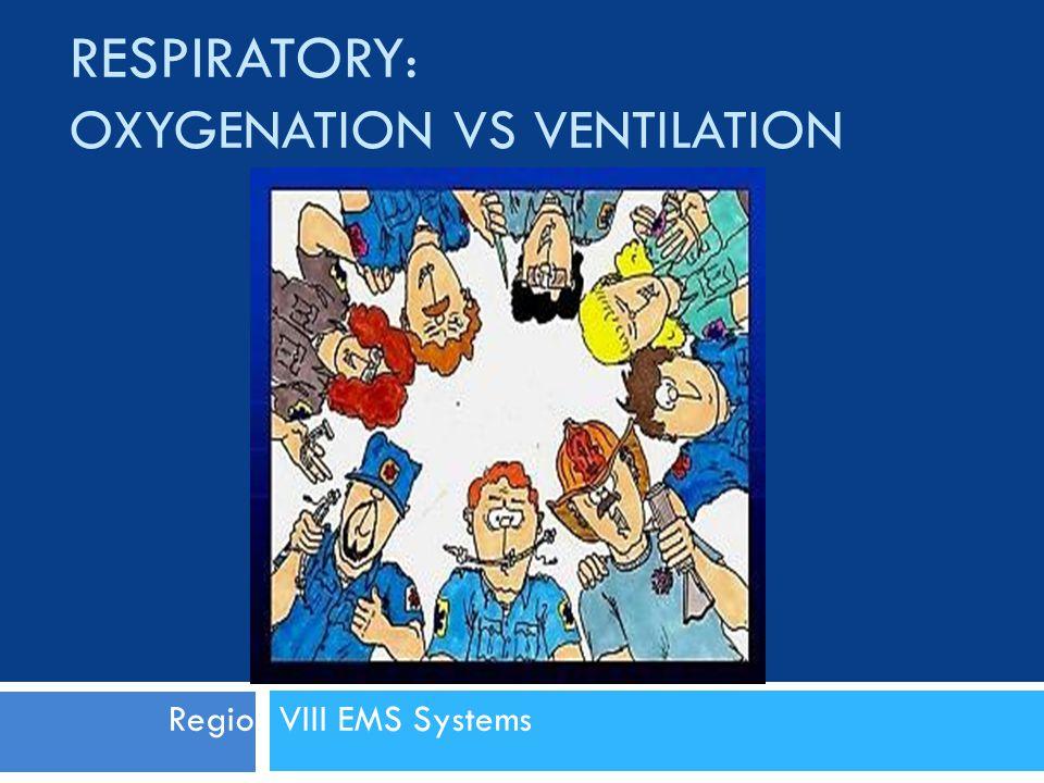 Respiratory: Oxygenation vs Ventilation