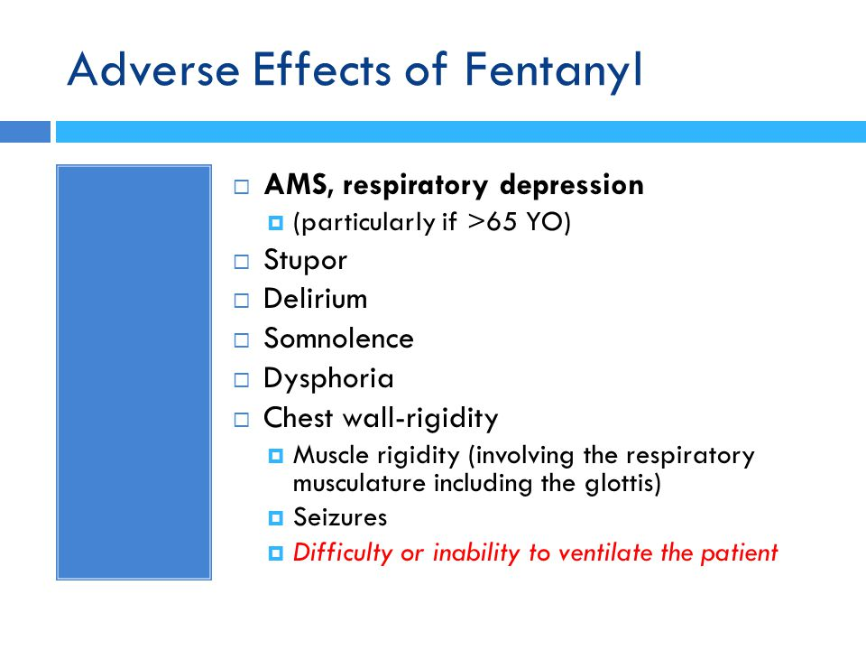 Adverse Effects of Fentanyl