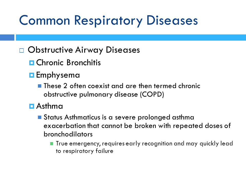 Common Respiratory Diseases