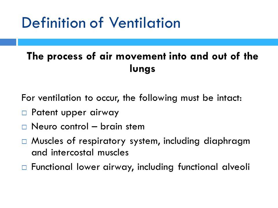 Definition of Ventilation