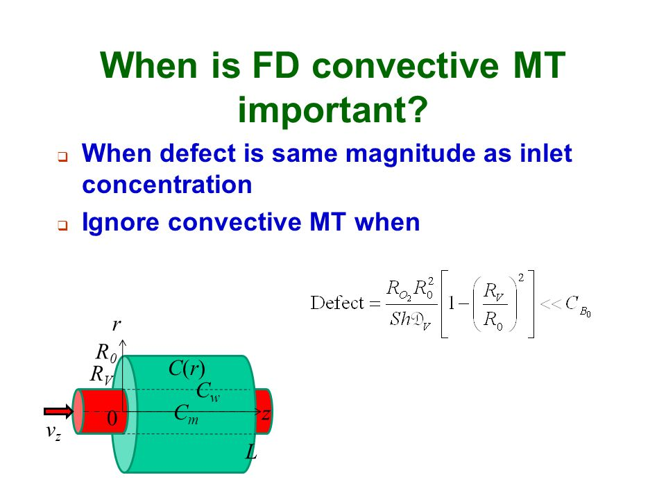 When is FD convective MT important