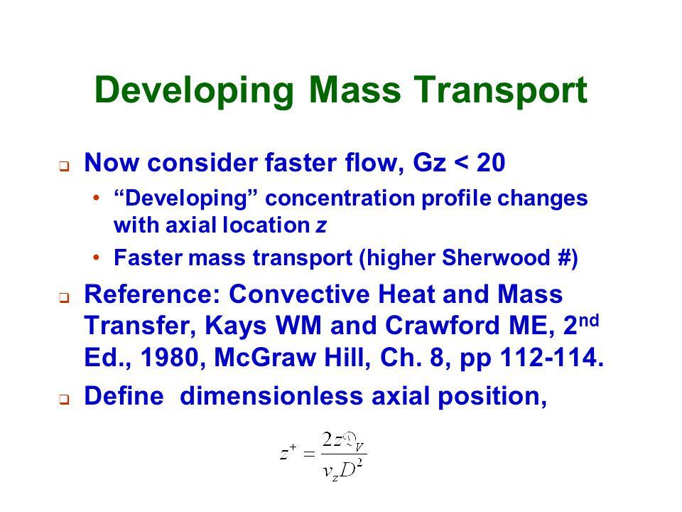 Developing Mass Transport