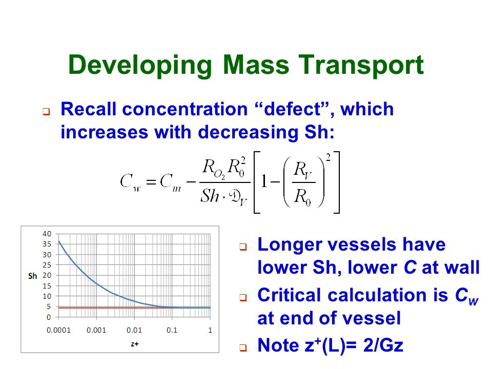 Developing Mass Transport