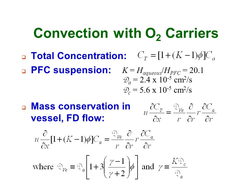 Convection with O2 Carriers