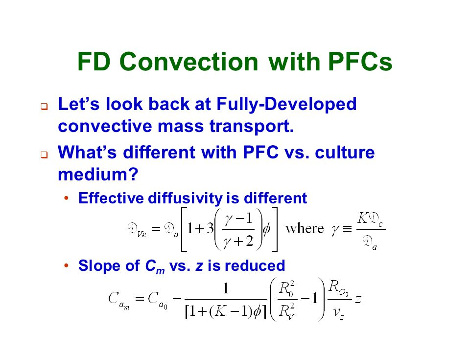 FD Convection with PFCs