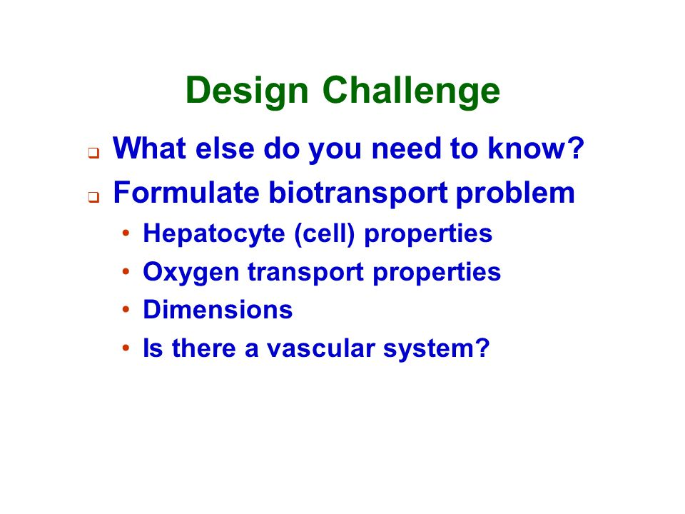 Design Challenge What else do you need to know